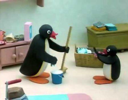 Pingu – Helpt zijn moeder