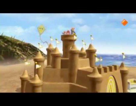 Zandkasteel aan zee – Finnie is lief