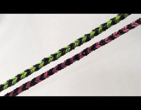 Loom voorbeelden – Fishtail Nano Armband