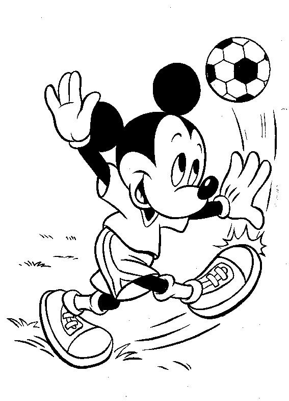 Mickey Mouse Voetbal Kleurplaat Archidev
