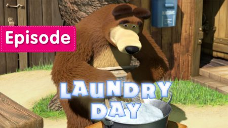 Masha en de Beer – Laundry Day
