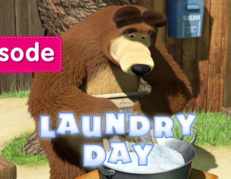 Masha en de Beer – Laundry Day