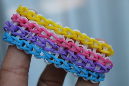 Loom voorbeelden – Quadruple Single Armband