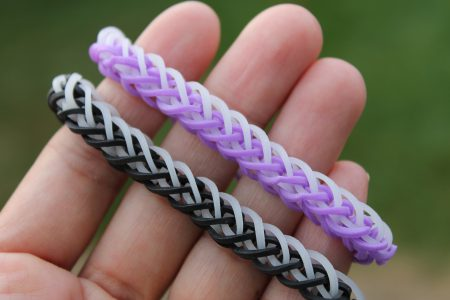 Loom voorbeelden – French Braid Armband