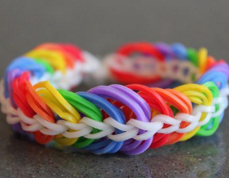 Loom voorbeelden – Triple Link Chain Armband