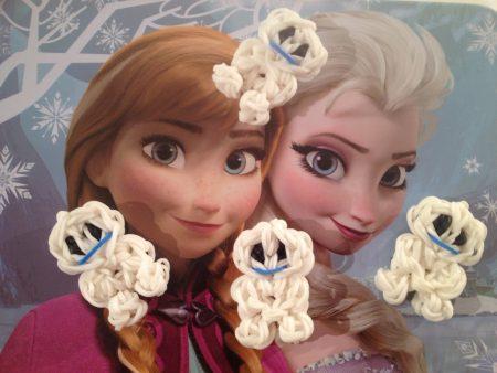 Loom voorbeelden – Frozen Fever Snowgies