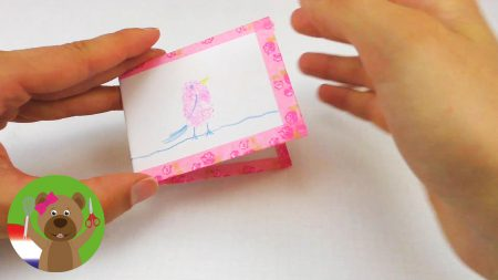 Minikaartjes met Duimafdruk, Vogel en Washi Tape