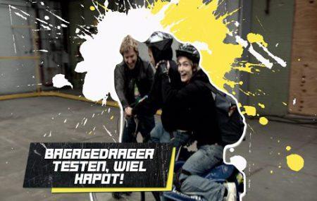 Checkpoint – Bagagedrager Testen, Wiel Kapot!