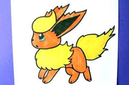 Hoe Teken Je – Flareon (Pokemon)