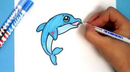 Hoe Teken Je – Een Dolfijn