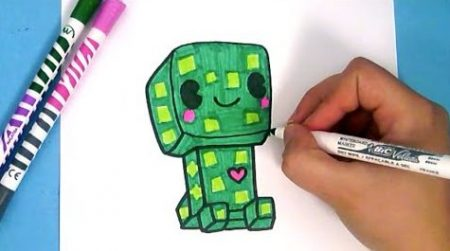Hoe Teken Je – Creeper (Minecraft)