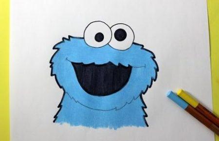 Hoe Teken Je – Cookie Monster