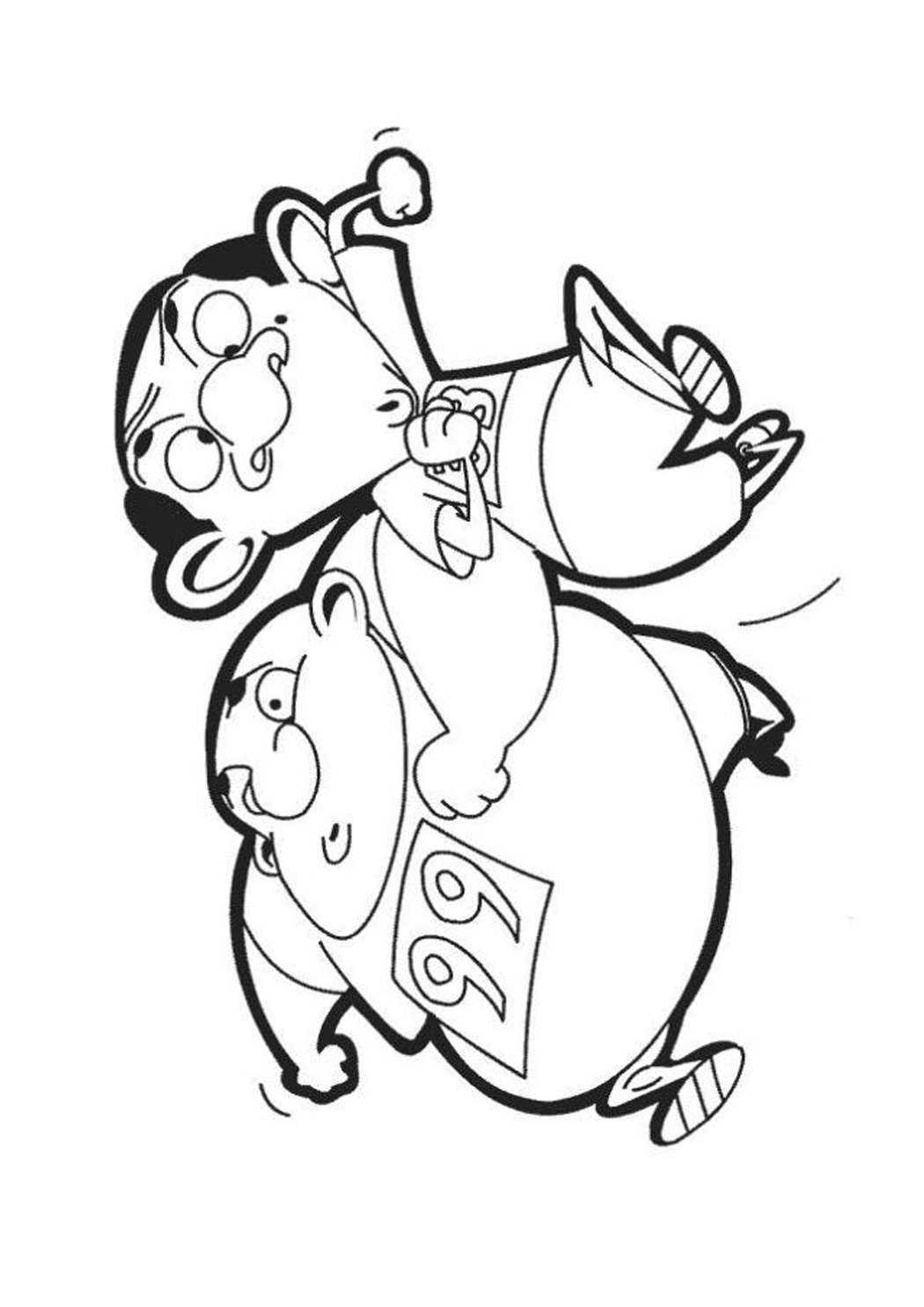 Youutube Kleurplaat Kinderfilmpjes Mr Bean