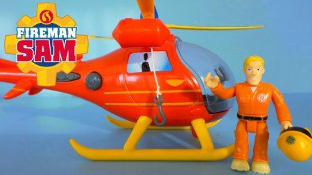 Brandweerman Sam Helikopter Wallaby en Piloot Tom – Uitpakken en Spelen