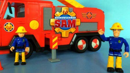 Brandweerman Sam Brandweerauto Deluxe Jupiter – Uitpakken en Spelen