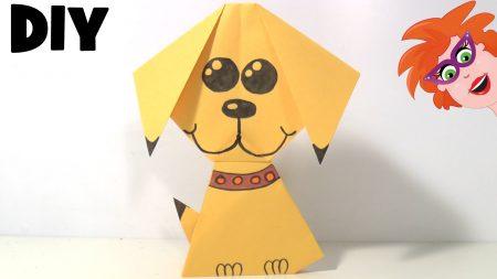 Juf Jannie – Origami Hondje Vouwen Van Papier