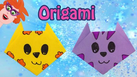Juf Jannie – Origami Kat Vouwen Van Papier