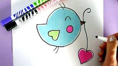 Hoe Teken Je – Een Vogeltje