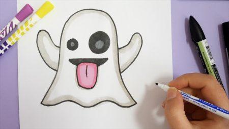 Hoe Teken Je – Een Spook Emoji