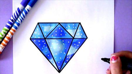 Hoe Teken Je – Een Diamant