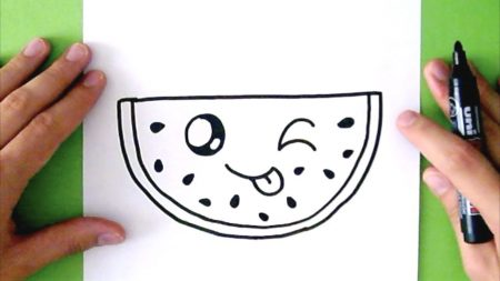 Hoe Teken Je – Een Watermeloen