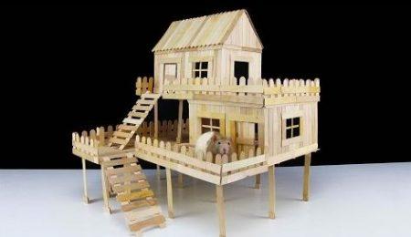 Hoe Maak Je – Een Huis Voor Een Rat Met Ijsstokjes