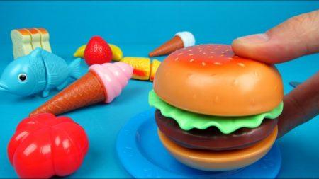 Toy Hamburger Set Unboxing and Playing – Uitpakken en Spelen