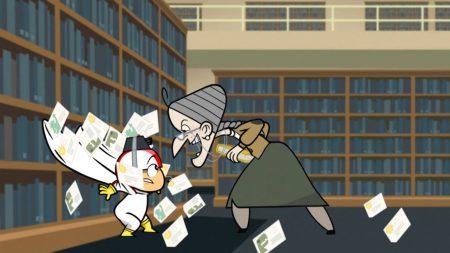 Kick Buttowski – De Bibliotheek