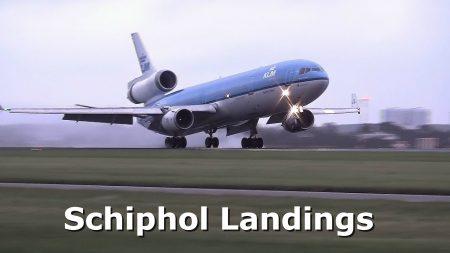 Vliegtuigen – Schiphol Airport – 20 Landeringen Op De Polderbaan