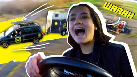 Checkpoint – Pas Op! Julia Rijdt Met 7 Aanhangers Op De Weg!
