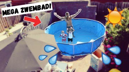 Familie Lakap – Mega Groot Zwembad Opzetten In Onze Tuin! – Vlog #286