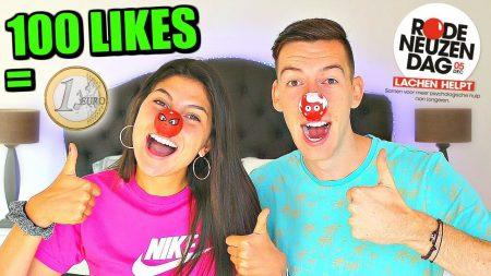Celine & Michiel – Per Like Op Deze Video Doneren Wij 1 Cent Aan Rode Neuzen Dag