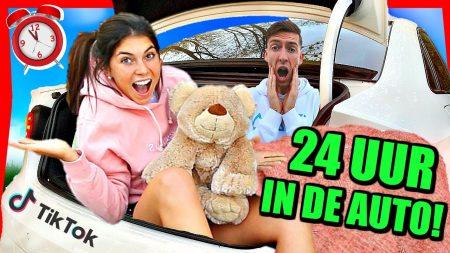 Celine & Michiel – 24 Uur Overleven In De Auto Challenge! (Overnachten) #63