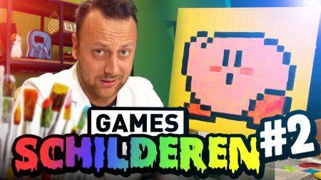 Team Dylan Haegens – Games Schilderen #2 – Schilderen met Rick