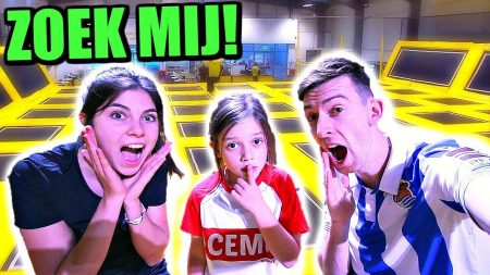 Celine & Michiel – Verstoppertje Spelen In Gesloten Trampolinepark ('s nachts) – Vlog #73