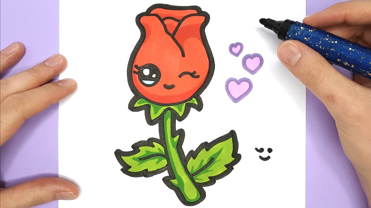 Wonderbaarlijk Hoe Teken Je - Een Roos | Kinderfilmpjes ET-32