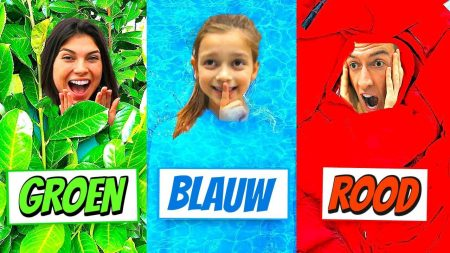 Celine & Michiel – Verstoppertje Spelen In 1 Kleur Challenge! #77