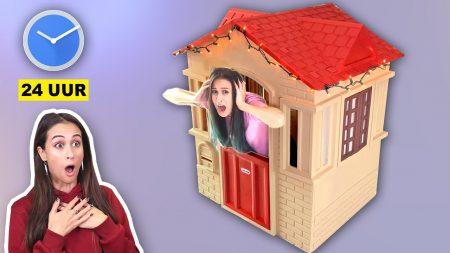 MeisjeDjamila – 24 Uur Overleven In Een Mini Speelhuis – Challenge! – Fan Friday