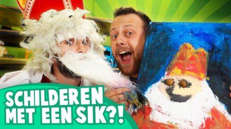 Team Dylan Haegens – Sinterklaas Schilderen – Schilderen met Sik
