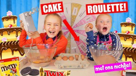 De Zoete Zusjes – Cake Roulette Challenge!! Wie Bakt De Lekkerste Cake? [Saar vs. Nichtje]