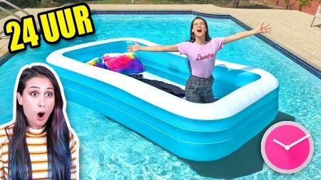 MeisjeDjamila – 24 Uur Overleven In Mijn Zwembad! – Fan Friday