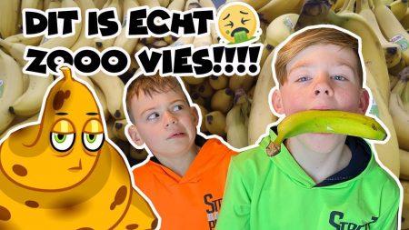 De Bakkertjes – 24 Uur Alleen Maar Bananen Smaak Eten!! (Gaat Mis!!) #356