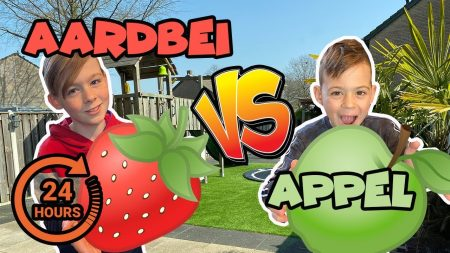 De Bakkertjes – 24 Uur Alleen Maar Aardbeiensmaak Of Appelsmaak Eten!! #361