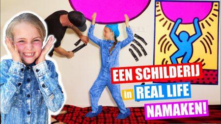 De Zoete Zusjes – Gaat Dit Lukken?! Een Schilderij In Real Life Namaken!! [Thuis Zit Journaal Afl5]