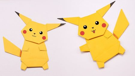 Origami – Pokemon Pikachu