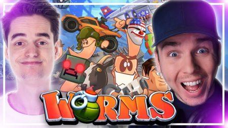 Dylan Haegens Gaming – Wormpjes Schieten – Met GameMeneer