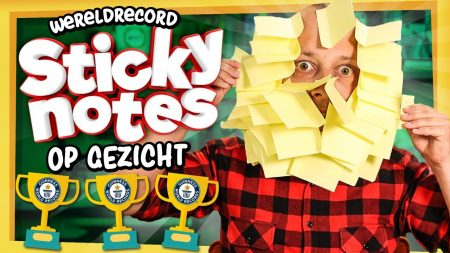 Team Dylan Haegens – 40 Sticky Notes Op Je Gezicht Plakken! – Dat Moet Toch Wel Lukken?