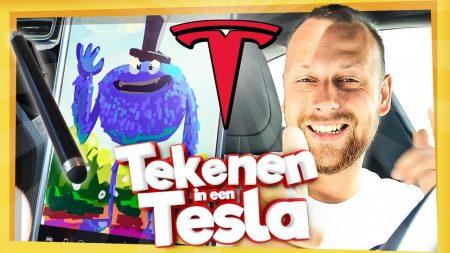 Team Dylan Haegens – Tekenen In Een Tesla!