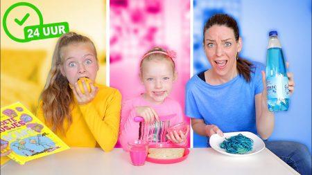 De Zoete Zusjes – 24 Uur Alles In 1 Kleur Doen – Challenge!!