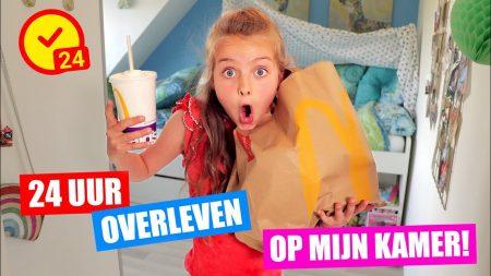 De Zoete Zusjes – 24 Uur Overleven In Mijn Kamer!! [MacDonalds, Skeeleren, Discofeestje en meer!]